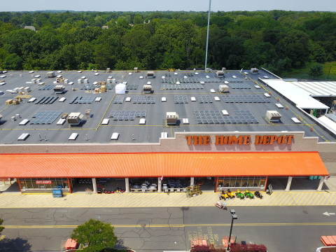 Current, powered by GE rooftop solar installation at the Home Depot store in Deptford, New Jersey. (Photo: Business Wire)