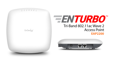 EnGenius EnTurbo Tri-Band 11ac Wave 2 Access Point(Graphic: Business Wire)