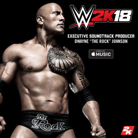 """2K announced the in-game soundtrack details for WWE® 2K18, the forthcoming release in the flagship WWE video game franchise. Executive produced and personally curated by legendary WWE Superstar and global icon Dwayne """"The Rock®"""" Johnson, the soundtrack will feature 11 unique songs that represent many of Johnson's favorite artists and music genres, including hip-hop, classic rock, hard rock, blues, R&B and soul. (Photo: Business Wire)"""
