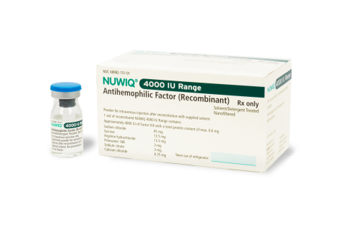 Octapharma USA today announced the U.S. Food and Drug Administration has approved new product strengths for NUWIQ®, including 4000 International Units (pictured). (Photo: Business Wire)