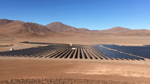 PV plant in Javiera, Chile (Photo: Business Wire)