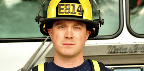 Patrick Cabe, Employee Benefits Analyst for The Standard, and volunteer firefighter for Cornelius Oregon Fire Department (Photo: Business Wire)