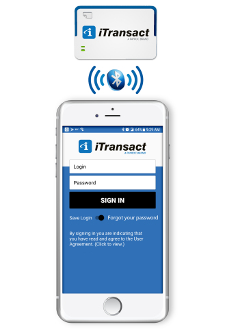 iTransact Mobile Merchant with Bluetooth EMV/Magstripe Reader. (Photo: Business Wire)