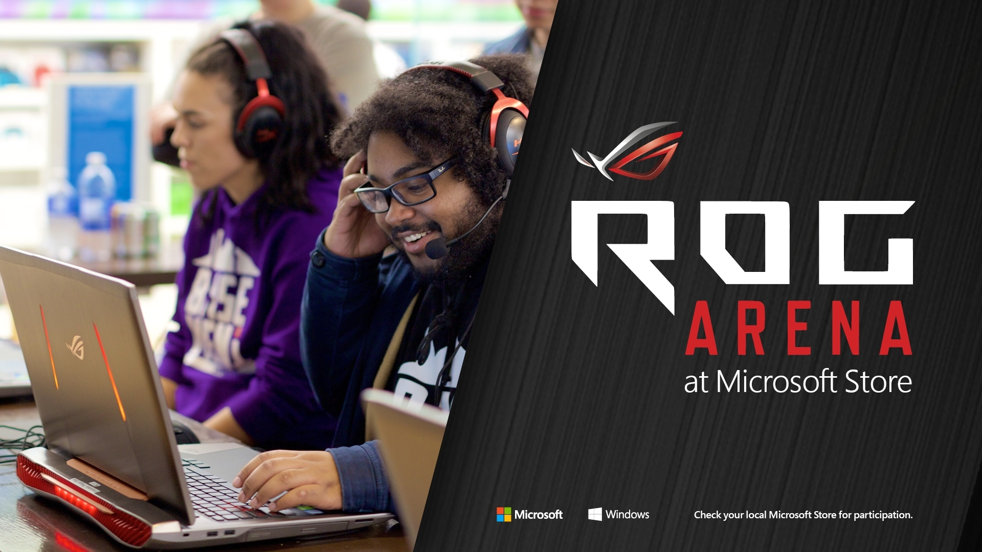 ASUS Republic of Gamers Arena Partners with Microsoft Store for