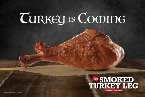 Arby's Smoked Turkey Leg is seasoned with salt and brown sugar, smoked and then slow-roasted to perfection. (Photo: Business Wire)