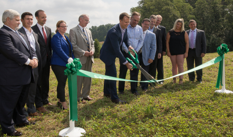 Ameresco, Blue Cross Blue Shield of Massachusetts and BlueWave Solar celebrated the launch of five r ...