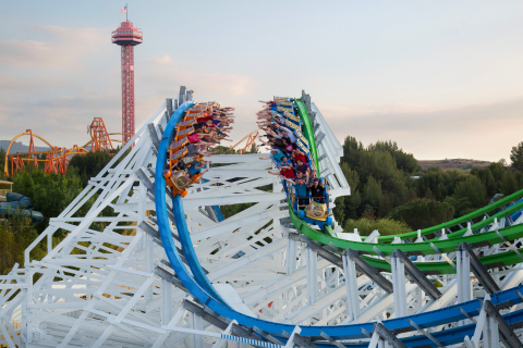 """Twisted Colossus, the world's longest hybrid coaster, can be found at Six Flags Magic Mountain. Launching January 2018, the undisputed """"Thrill Capital of the World"""" will offer 365 days of thrills! (Photo: Business Wire)"""