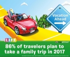 TripAdvisor Survey finds 86% of U.S. travelers plan to take a family trip this year. THE GAME OF LIFE game encourages players to take a break and choose their dream destination with vacation cards added to the game.