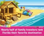 TripAdvisor Survey finds nearly half of U.S. travelers rank Florida as their favorite family destination. THE GAME OF LIFE game's new vacation cards includes destinations such as Florida.