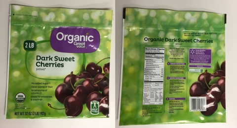 Great Value Organic Dark Sweet Pitted Cherries (Photo: SunOpta)