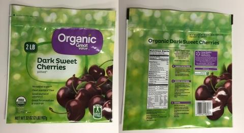 Great Value Organic Dark Sweet Pitted Cherries (Photo: SunOpta)