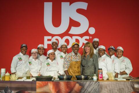 Chef Marcus Samuelsson and US Foods representative Stacie Sopinka announce US Foods Scholars program ...
