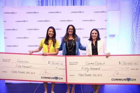 Communitech Fierce Founders Accelerator Pitch Competition Winners Aug. 25 2017 in Kitchener. (Photo: Business Wire)