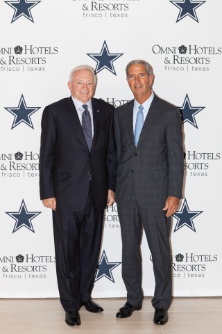 Jerry Jones, Owner, President and General Manager of the Dallas Cowboys, and Robert Rowling, Owner a ...