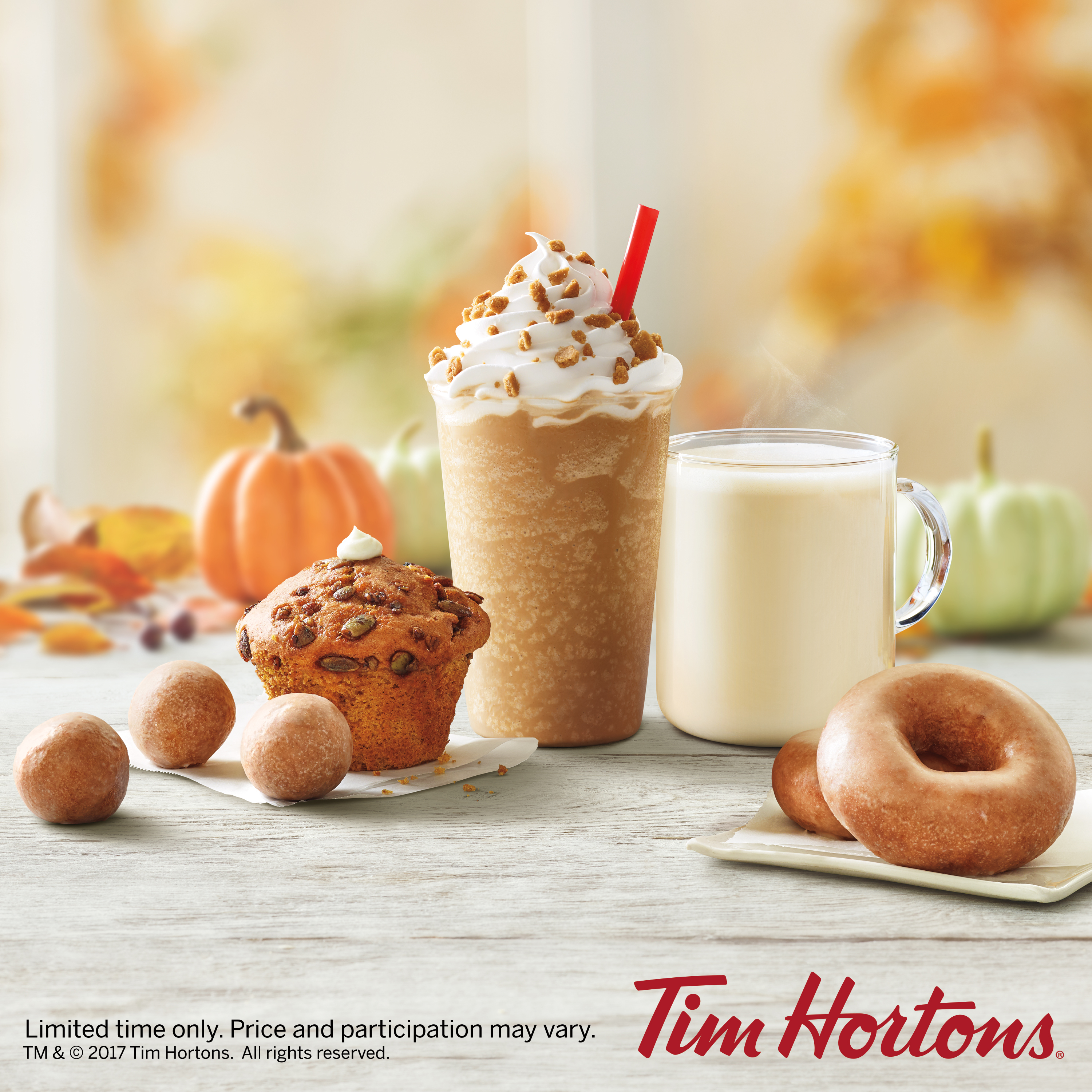 tim hortons celebrates fall with pumpkin spice product lineup