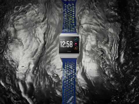 Water resistant up to 50 meters and with industry-leading lap counting, use Fitbit Ionic in the pool and see your real-time laps, exercise duration and calories burned for pool swims. (Photo: Business Wire)
