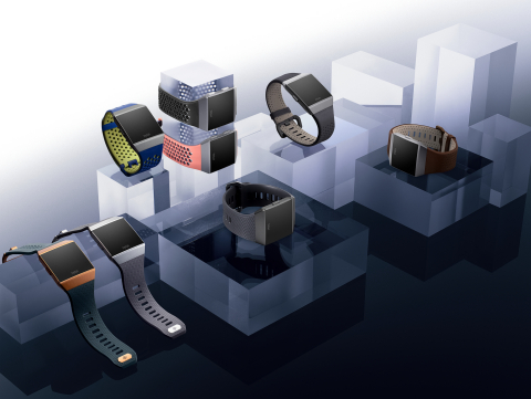 Fitbit's first smartwatch, Fitbit Ionic, debuts with on-device dynamic workouts, relative SpO2 sensor, industry-leading GPS and lap counting, IPX7 rating, on-board music, contactless payments and 4+ day battery life. (Photo: Business Wire)