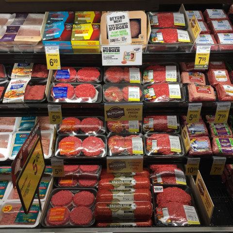 Beyond Burger Safeway Meat Selection