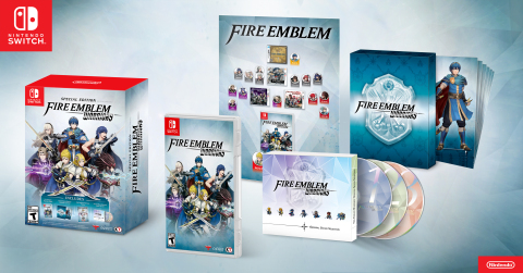 During the GameStop Expo in Las Vegas, Nintendo announced a special edition of the Fire Emblem Warriors game for the Nintendo Switch system. (Graphic: Business Wire)