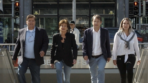 From left to right: Axel Schultze (Co-Founder and Board Member), Marita Schultze (Founding Member), Prof. Dr. René Zeier (Co-Founder and CEO), Manuela Rantra (Marketing Manager) (Photo: Business Wire)