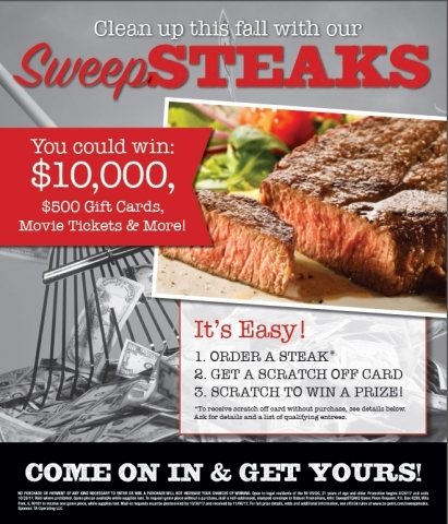 Fall SweepSTEAKS (Photo: Business Wire).