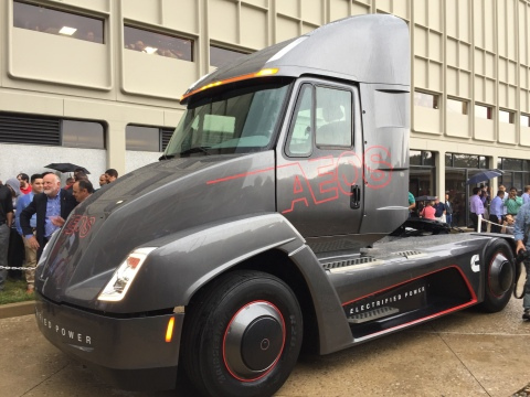 Aeos 1 - first fully electric heavy-duty truck and powertrain (Photo: Business Wire)