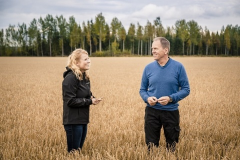 Viking Malt is Introducing Barbin - The First E-platform for Grain Trade in Finland. In the picture  ...