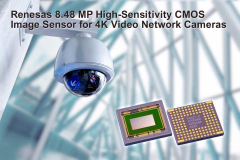 Renesas 8.48 MP high-sensitivity CMOS image sensor for 4K video network cameras (Photo: Business Wir ...