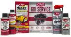 CRC® GDI Service Pack. Eliminate carbon at the 6 critical points: MAF Sensor, Throttle Body, Intake Valves, Injectors, Spark Plugs, Combustion Chamber. Kit includes 05815 1-TANK Power Renew®, 05319, GDI IVD ® Intake Valve & Turbo Cleaner, 05610 Mass Airflow Sensor Cleaner, 05678 Throttle Body Cleaner, and 05818 Friction Guard™ for Oil (Photo: Business Wire)