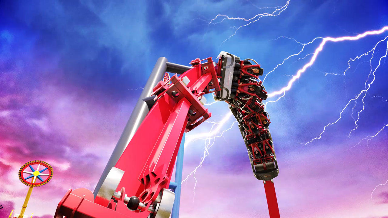 World's first ever dueling looping coaster opening at Six Flags Discovery Kingdom in Spring 2018.