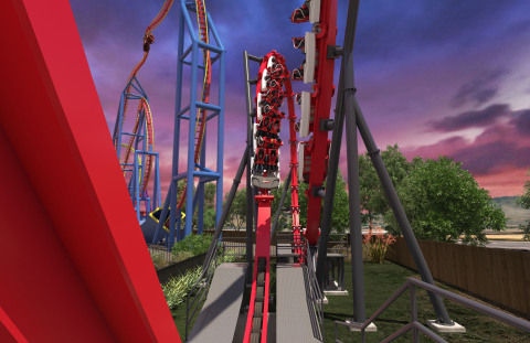 Riders on Harley Quinn Crazy Coaster journey backwards, forwards and inverted 12 times. (Photo: Business Wire)