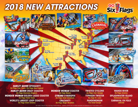 World Record-Breaking New Rides and Attractions Coming to Six Flags Parks in 2018. (Photo: Business Wire)