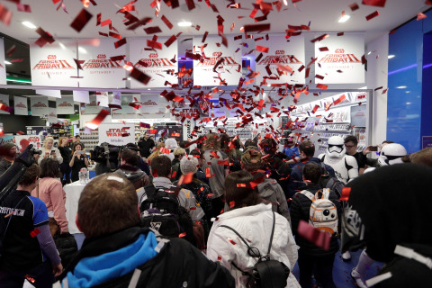Sydney, Australia – Sept. 1 – Star Wars fans race into a midnight retail event in Sydney, Australia as Force Friday II gets underway around the world in celebration of the launch of the new product line for Star Wars: The Last Jedi. (Photo: Business Wire)