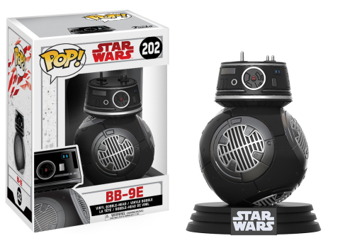 Funko POP! BB-9E Droid, one of hundreds of new products celebrating Star Wars: The Last Jedi launching around the world over the Force Friday II weekend. New Star Wars: The Last Jedi character BB-9E was revealed by fans at midnight openings in Sydney, AUS where the global celebration kicked off. (Photo: Business Wire)