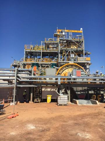 Mill at Newmont's Tanami gold mine in Australia. (Photo: Business Wire)
