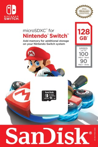 The Nintendo-licensed 64 GB and 128 GB microSDXC SanDisk memory cards will be available at select retail outlets starting in October 2017. (Photo: Business Wire)