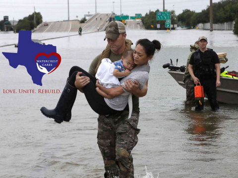 Watercrest CARES, a Common Unity Initiative of Watercrest Senior Living Group, is Leading a $100,000 Fundraising Mission for the Samaritan's Purse to Aid Hurricane Harvey Disaster Relief (Photo: Business Wire)