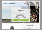 Moto-tyres.co.uk now with a modern design for mobile display and new features (Photo: Business Wire)