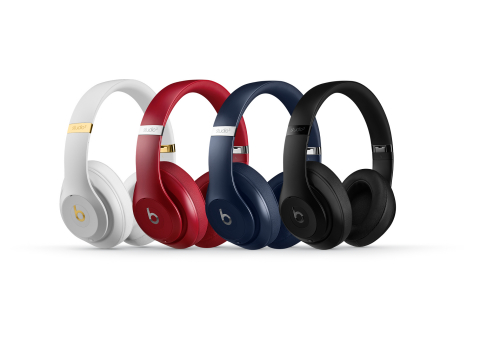 Beats Studio3 Wireless core colors White, Red, Blue and Matte Black (Photo: Business Wire)