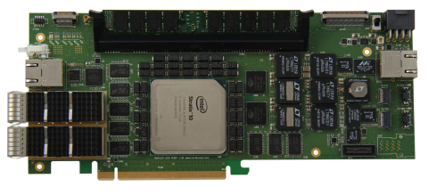 The XpressGXS10-FH200G board is dedicated to Cloud Computing and Finance markets (Photo: REFLEX CES)