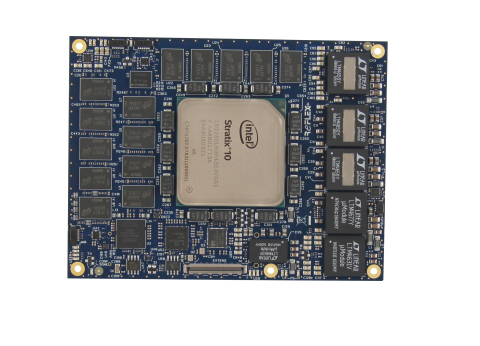 The COMXpressGX/SXS10 board is dedicated to High-Performance Computing and acceleration markets (Photo: REFLEX CES)