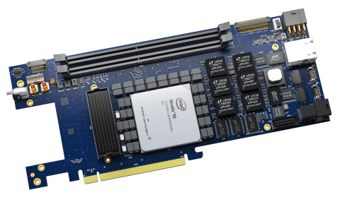 The Sargon board (Stratix 10 GX and SoC) is dedicated to High-Perfomance Computing and ASIC/IP Prototyping (Photo: REFLEX CES)