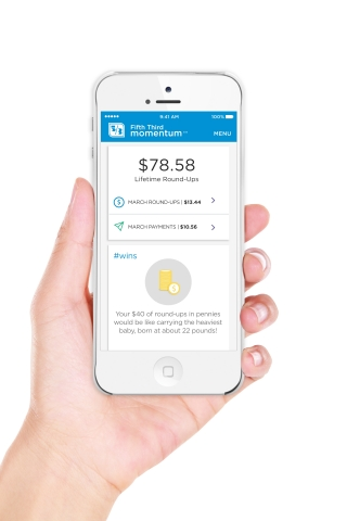 The Fifth Third Momentum app helps college graduates pay off student loans faster by automating frequent micropayments toward the balance on student loan accounts. (Photo: Business Wire)