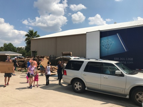Victory Packaging Providing Packaging During Hurricane Harvey (Photo: Business Wire)