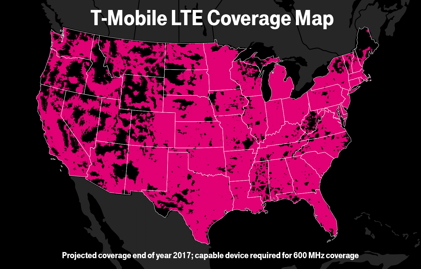 Americas Best Unlimited Just Got Even Better TMobile Now - T mobile coverage map us