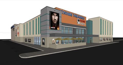 Cinemark's new Century Arden Movie Bistro will open in the summer of 2018 (Photo: Business Wire)