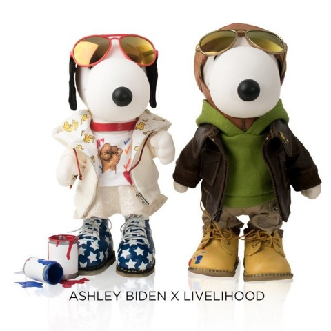 Ashley Biden, daughter of former Vice President Joe Biden and founder of the popular Livelihood brand, personally designed these custom mini-couture outfits for the Snoopy & Belle In Fashion international traveling exhibit, debuting at Brookfield Place New York this week. (Photo: Business Wire)