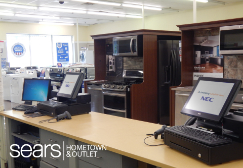 NEC's point of sale technology, the G5200 POS, is shown in a Sears Hometown and Outlet Store. The company's technology has been deployed in all 1,000 stores nationwide. (Photo: Business Wire)