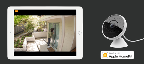Apple HomeKit now available on Logitech #Circle2 Wired cameras and mounts (Graphic: Business Wire)