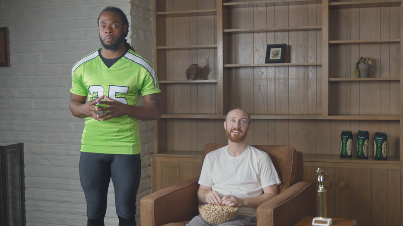 "Wonderful Pistachios teams up with Seattle Seahawks cornerback Richard Sherman and Green Bay Packers linebacker Clay Matthews to kick off ""Put a Smile on Your Snackface,"" its biggest football campaign ever.   In the campaign, Sherman and Matthews star in separate commercials featuring pistachio lovers who may be unlucky in life, but fortunate to discover the perfect gameday snack to put a smile on their snackfaces. They quickly discover that when you feel good about eating tasty, protein-powered Wonderful Pistachios, you can also feel good about yourself.  Put a smile on YOUR snackface at http://getcrackin.com."